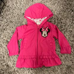 Disney Jackets & Coats | Disney Baby Minnie Mouse Wind Breaker 12 Month | Color: Pink | Size: 12mb