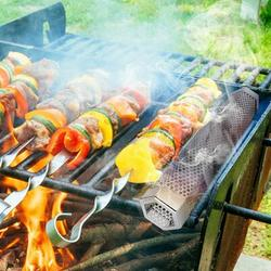 ihometea 12In Stainless Steel Outdoor Wood Pellet Grill Smoker Filter Tube Pipe Smoke BBQ, Size 12.0 H x 12.0 W x 2.2 D in   Wayfair
