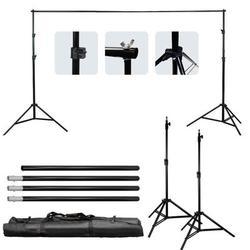 Ubesgoo 2 Piece Backdrop Support Stand SetPlastic, Size 33.9 H x 6.3 W x 4.3 D in   Wayfair wu1-85007731
