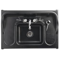 "Ozark River Portable Sinks 25.5"" L x 17.5"" W Portable Handwash Station w/ FaucetStainless Steel/Plastic in Black/Gray | Wayfair ADSTK-AB-AB1N"