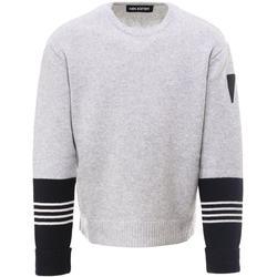 Stripe-detail Crewneck Jumper - Gray - Neil Barrett Knitwear