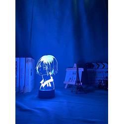 hhjk 3D Illusion Lamp Night Light, 3D Lamp, Night Light, Led Night Light Anime Kozume Kenma Lamp for Bedroom Decor Nightlight Kids Children Birthday Gift Haikyuu Kenma Light,7 Colors no Remote