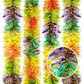 Chuangdi 66 Feet 2 Pieces Easter Tinsel Garlands Metallic Twist Garlands Colorful Tinsel Twist Fringe Garland Hanging Tinsel Garland Ornaments for Easter Decoration Birthday Wedding Party Supply