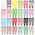 """170 Pcs Hair Clips for Girls, Funtopia 120 Pcs 2 Inch Metal Barrettes Snap Hair Clips and 50 Pcs 2.4"""" No Slip Hairpins for Women Girls for Kids Birthday Party Gift (Fruit Floral Print & & Solid Color)"""