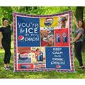 Pepsi Funny Gift for Soft Drink Lover Quilt Queen Size - Quilt Patterns All-Season Quilts Comforters with Cotton - King Queen Twin Size Beach Trips, Gifts Quilt