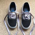 Vans Shoes | Mens Black, Gray And Blue Vans | Color: Black/Blue/Gray | Size: 8.5