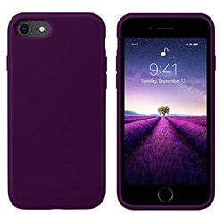 iPhone Case Covers - Compatible with iPhone SE 2020 Case, iPhone 7 Case, iPhone 8 Case, [Silky and Soft Touch Series] Premium Liquid Silicone Rubber Protective Case for iPhone 7/8/SE 2020 - Purple