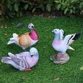 ZHENGYU Garden Sculpture Outdoors Pastoral Simulation Animal Resin Pigeon Sculpture Ornaments Outdoor Landscape Figurines Crafts Courtyard Park Balcony Decoration Patio Lawn Decoration Gift