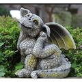 ZHENGYU Garden Sculpture Outdoors Garden Statues and Sculptures Outdoor Antique Old Vintage Figurine Statue Art Home Decor for Yard Lawn Home Decoration Gift Patio Lawn Decoration Gift (Color : C)