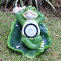 YONGMEI Solar Garden Statue Waterproof Garden Ornament Frog Garden Statue, Outdoor Solar Frog Ornaments, Glass Fiber Reinforced Plastic Sculpture in Garden Pool (Size : B)