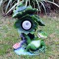 YONGMEI Solar Garden Statue Waterproof Garden Ornament Frog Garden Statue, Outdoor Solar Frog Ornaments, Glass Fiber Reinforced Plastic Sculpture in Garden Pool (Size : F)