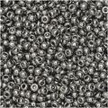 Miyuki Round Seed Beads, 11/0 Size, 100 Gram Bulk Bag, 190 Nickel Plated
