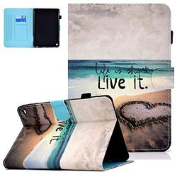 """Kindle Fire HD 8 Case 2020 Release, Kindle Fire HD 8 Plus 10th Generation Case, UGOcase PU Leather Auto Sleep Wake Up Folding Stand Cover with Pen Holder for 8"""" Display HD 8 Fire Tablet, Beach"""