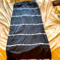American Eagle Outfitters Skirts | Ae Side Split Skirt Size Large | Color: Blue/White | Size: L
