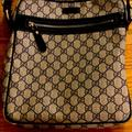 Gucci Bags | Gucci Navy Gg Canvas Messenger Bag | Color: Red | Size: Os