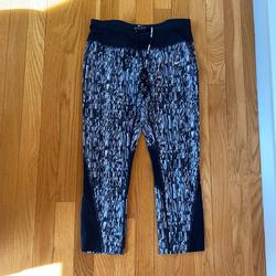 Nike Pants & Jumpsuits   Nike Running Leggings Capri Size Small   Color: Black/White   Size: S