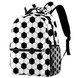 Hiking Backpack Laptop Backpack Soccer Football Print Casual Large Capacity School Bag for Men Women for Work Office College Business Travel