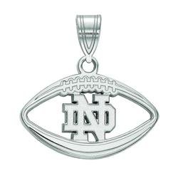 LogoArt 14k White Gold Notre Dame Fighting Irish Football Pendant Necklace, Women's, Size: 20MM