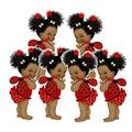Ladybug Cutouts Baby Shower Birthday African American Girl Party Paper Decoration (6, 9 inches)