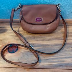 Michael Kors Bags | Michael Kors Leather Bedford Flap Crossbody Bag | Color: Brown | Size: Os