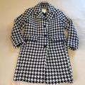 Kate Spade Jackets & Coats | Kate Spade Pink & Navy Houndstooth Coat | Color: Blue/Pink | Size: Xs