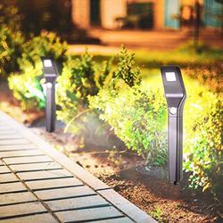Outdoor Solar Pathway Lights Waterproof - Motion Sensor Path Lights with 3 Modes Garden Lighting Decorative for Walkway Driveway Backyard (2 Pack)