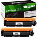 Victoner Compatible Toner Cartridge Replacement for Canon 051 051A Toner Cartridge for Canon ImageCLASS MF267dw MF269dw MF264dw LBP162dw Toner Printer(Black, 2 Packs)