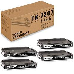 (Black 4 Pack) Compatible TK-7207 Toner Cartridge Replacement for Kyocera TK7207 TASKalfa 3510i 1T02NL0US0 Printer Ink Cartridge