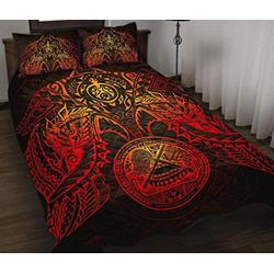 American Samoa Polynesian Red Turtle Quilt - Hippie Quilt Quilt Patterns All-Season Quilts Comforters with Cotton - King Queen Twin Size Beach Trips, Gifts Quilt