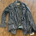 Free People Jackets & Coats | Free People Sequin Jacket Nwt | Color: Black/Gray | Size: L