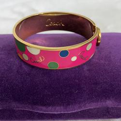 Coach Jewelry   Coach Bangle Bracelet *Vintage*   Color: Gold/Pink   Size: Os