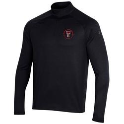 Men's Under Armour Black Texas Tech Red Raiders Coaches On-Court Basketball Raglan Quarter-Zip Jacket, Size: Large