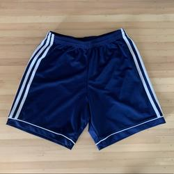 Adidas Bottoms   Adidas Climalite Sport Shorts   Color: Blue/White   Size: Youth S
