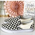 Vans Shoes | New Vans Classic Slip-On Checkerboard Sneakers | Color: Black/White | Size: Womens 10.5 - Mens 9