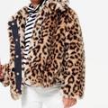 J. Crew Jackets & Coats | Crewcuts Faux Fur Leopard Print Coat | Color: Black/Tan | Size: 3tg