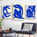 Art nu bleu célèbre par Henri Matisse peintures sur toile sur le mur affiches d'art et impressions