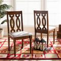 Baxton Studio Cherese Modern Grey Fabric & Walnut Brown Finished Wood 2-PC Dining Chair Set - Wholesale Interiors RH334C-Grey/Walnut-DC-2PK
