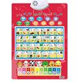 Arabic Alphabet Poster for Kids Learning Letters Interactive Poster for Kids/Laminated Wall Poster/Preschool Learning Numbers, Sounds, Spelling, Animal Sounds and More