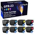 8-Pack (2BK+2C+2Y+2M) Compatible Printer Cartridge Replacement for Canon GPR23 GPR-23 Toner Cartridge use for Canon C2880 C2550 C2550i C3080 C3080i C3380 C3380i C3480 C3480i C3580 C3580i Printer