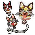 LZHLMCL Embroidered Patches 4Pcs Embroidery Cloth Stickers Dog Embroidered Appliques Embroidered Patch Stickers Apparel Accessories Cloth Labels