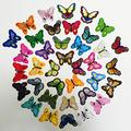 LZHLMCL Embroidered Patches 36Pcs Butterfly Butterfly Embroidered Cloth Patch Embroidered 12 Color Butterfly Suit Patch Sticker 37Pcs