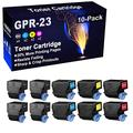 10-Pack (4BK+2C+2Y+2M) Compatible Printer Cartridge Replacement for Canon GPR23 GPR-23 Toner Cartridge use for Canon C2880 C2550 C2550i C3080 C3080i C3380 C3380i C3480 C3480i C3580 C3580i Printer