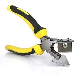 Rubber Shaped Scissors,V Notch Scissors 90 Degree Right Angle Scissors Oblique Wire Cable Conduit Plastic Pipe Miter Tools