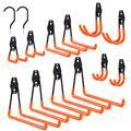 Finnhomy 14 Pack Heavy Duty Garage Storage Hooks, Utility Garage Wall Hooks for Garage Organization, Wall Mount Garage Hanger & Organizer, 4 Large Hooks & Bonus 2 Bike Ladder Storage Hooks