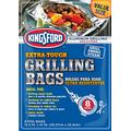 "Kingsford Grilling Extra Tough Aluminum Grill Bags by Brand, Recyclable & Disposable, for Locking in Flavors & Easy Grill Clean Up, 15.5"" x 10"", 2 Pack of 8"