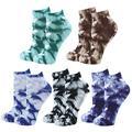 Bienvenu Unisex Tie-dye No Show Socks, Women Ankle Low Cut Socks Tie-dye, Hidden Invisible Boat Socks 5 Pack