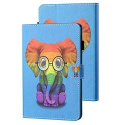 Kindle Paperwhite E-Reader Case 10th Generation 2018, APOLL Premium PU Leather Auto Sleep Wake Shock Absorption Folio Slim Cute Smart Case Cover for 6 inch Kindle Paperwhite 1 2 3 4, Color Elephant