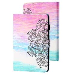 Kindle Paperwhite E-Reader Case 10th Generation 2018, APOLL Premium PU Leather Auto Sleep Wake Shock Absorption Folio Slim Cute Smart Case Cover for 6 inch Kindle Paperwhite 1 2 3 4, Sunset Glow