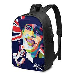 The Adicts A 17-inch Lightweight Student Backpack, a Backpack with a USB Port and a Headphone Cable Interface.