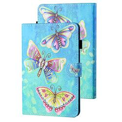 Kindle Paperwhite E-Reader Case 10th Generation 2018, APOLL Premium PU Leather Auto Sleep Wake Shock Absorption Folio Slim Cute Smart Case Cover for 6 inch Kindle Paperwhite 1 2 3 4, Color Butterfly